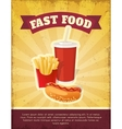 Fast Food Composition vector image vector image
