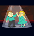 fat people in beautiful costumes dancing ballroom vector image vector image