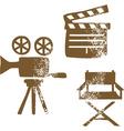 Film design elements vector image vector image