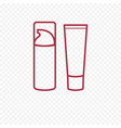 foundation face cream thin line icon vector image