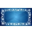 frame with white snowflakes vector image vector image