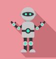 futuristic humanoid icon flat style vector image