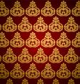 Golden art pattern wallpaper vector image vector image