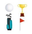 golf sport set icons vector image vector image