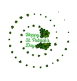 Green clovers on white decoration for St Patricks vector image vector image