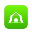 hiking pavilion icon digital green vector image vector image