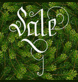 holiday gift card with hand lettering sale on vector image vector image