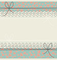 horizontal lace frame with cute hearts vector image vector image