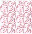 human heart seamless pattern vector image vector image