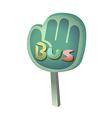 icon bus stop vector image vector image
