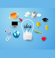 ideas concept light icons set vector image