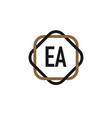 initial letter ea elegance logo design template vector image vector image