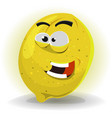 lemon fruit character vector image