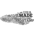made in word cloud concept vector image vector image