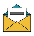 mail envelope isolated icon vector image vector image