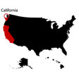 map of the us state of california vector image vector image
