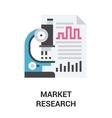 market research icon concept vector image vector image