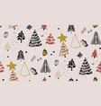 merry christmas winter tree print seamless winter vector image