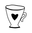 mug for coloring book tableware for vector image