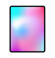 new version of realistic frameless premium tablet vector image vector image