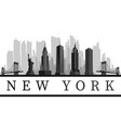 new york usa skyline vector image