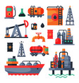 oil petroleum extraction processing transportation vector image