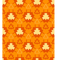 orange yellow color abstract geometric seamless vector image vector image