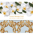 orchid flowers with ornaments card banner poster vector image vector image