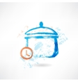 Pan time grunge icon vector image vector image