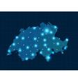 pixel Switzerland map with spot lights vector image vector image