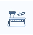 Plane taking off sketch icon vector image vector image