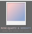 Polaroid frame with trend color 2016 Rose quartz vector image