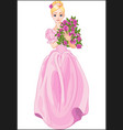princess holds bouquet vector image