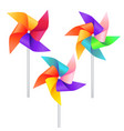 realistic detailed 3d wind mill toy set vector image vector image
