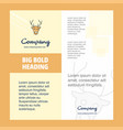 reindeer company brochure title page design vector image vector image