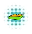 Sandbox on a playground icon comics style vector image