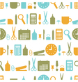seamless background with office stationery icons vector image vector image