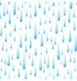 seamless pattern with raindrops vector image vector image