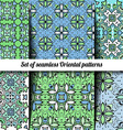Set of 6 seamless Oriental patterns vector image vector image