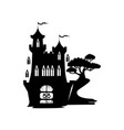 silhouette of a fairy castle vector image vector image
