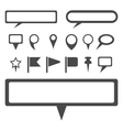 Simple gray map markers set vector image vector image
