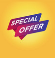 special offer tag sign vector image vector image