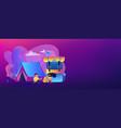 summer camp concept banner header vector image vector image