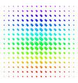 tag shape halftone spectrum pattern vector image vector image