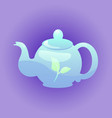 teapot for web design vector image