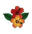 tropical flower icon image vector image vector image