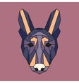 Violet and orange low poly dog vector image vector image