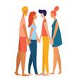 women and men polyamorist heterosexual straight vector image
