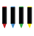 highlighters in four color vector image
