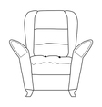 armchair part of interior vector image